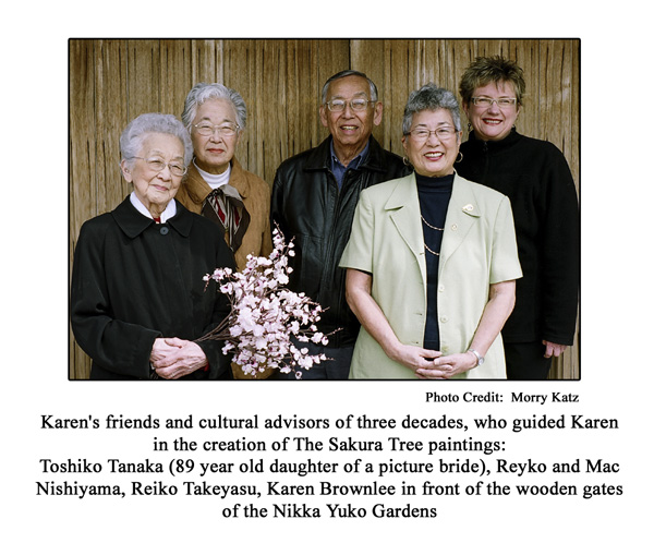 Karen Brownlee and cultural advisors for The Sukara Tree
