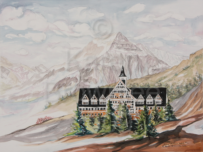 Prince of Wales Hotel #1, Watercolour.