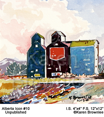 Rural Prairie communities. Alberta Icon 10