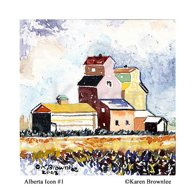 Rural Prairie communities. Alberta Icon 1