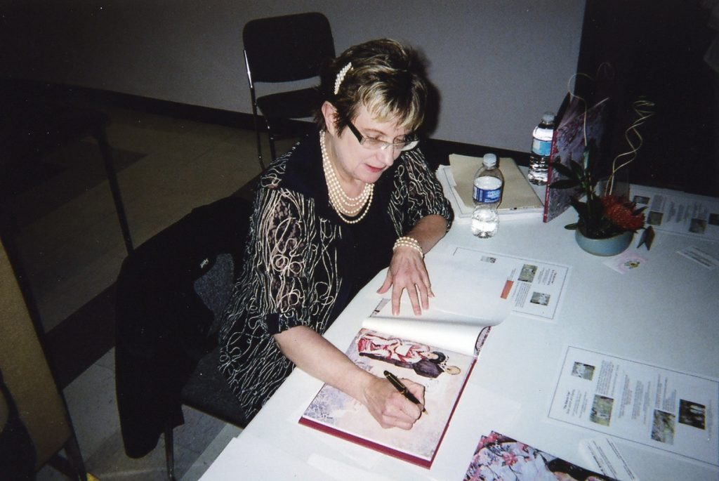 Karen Brownlee at a book signing